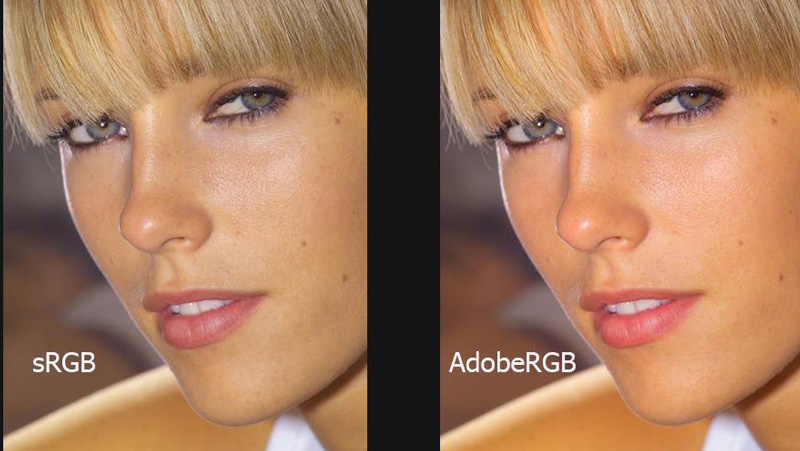 sRGB vs AdobeRGB